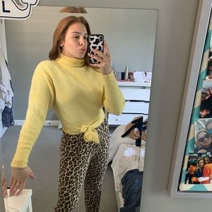 Yellow Cropped Tie Sweater Aritzia Wilfred